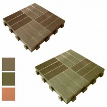 PIASTRELLA LEPLA' PVC/LEGNO cm 40x40x5 verde GAROFALO 8032605800305
